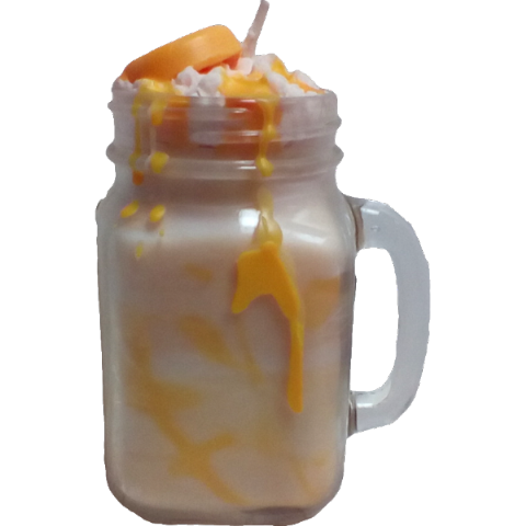 Pineapple & Mango Drizzle Mason Jar Soy Wax Candle